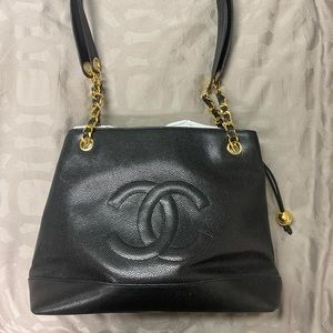 Authentic Vintage Chanel Caviar Tote Bag